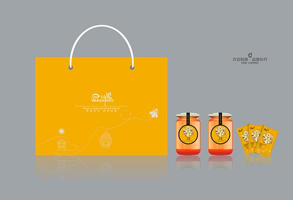 蜂蜜包装盒袋子设计