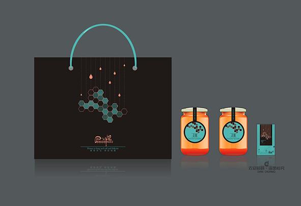 蜂蜜包装盒设计图