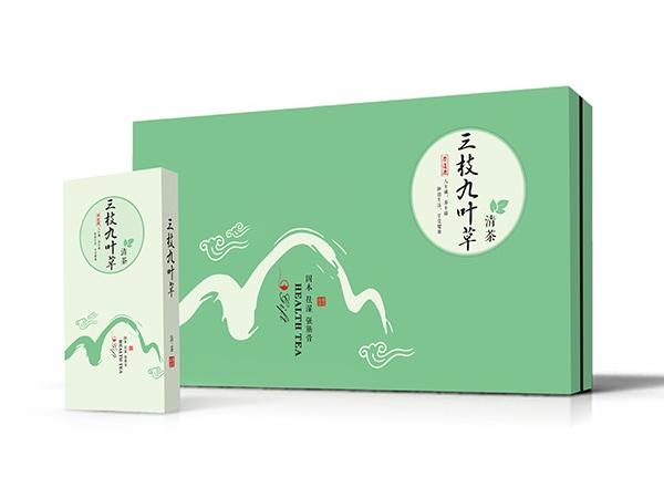 点创包装为三枝九叶草提供茶叶盒定制