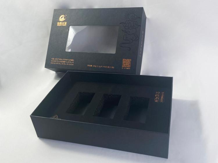 山药礼盒-开天窗礼盒-上下扣盖礼盒-精品盒定制厂家