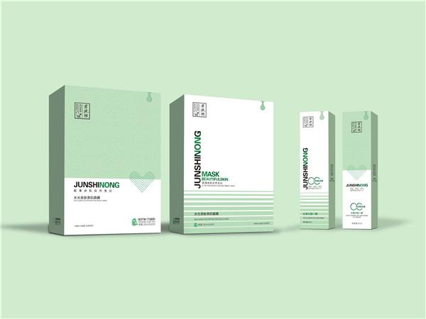 护肤品包装盒定制:君施秾面膜盒和CC霜盒